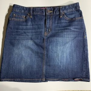 Tommy Hilfiger Dark Wash Denim Mini Skirt Size 6